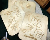 RIVER MAP COASTERS 4X6 - ...