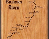 BIGHORN RIVER MAP Fly Box...