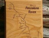 ARKANSAS RIVER MAP Wall P...