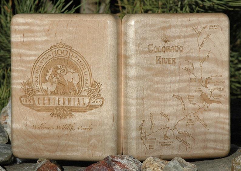 Fly Box  ROCKY MOUNTAIN National Park Centennial River Map image 0