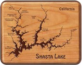 SHASTA LAKE River Map Fly...