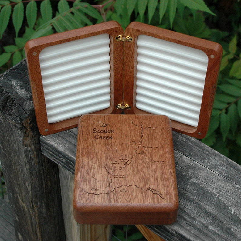 SLOUGH CREEK Custom Fly Box  Yellowstone National Park  image 0
