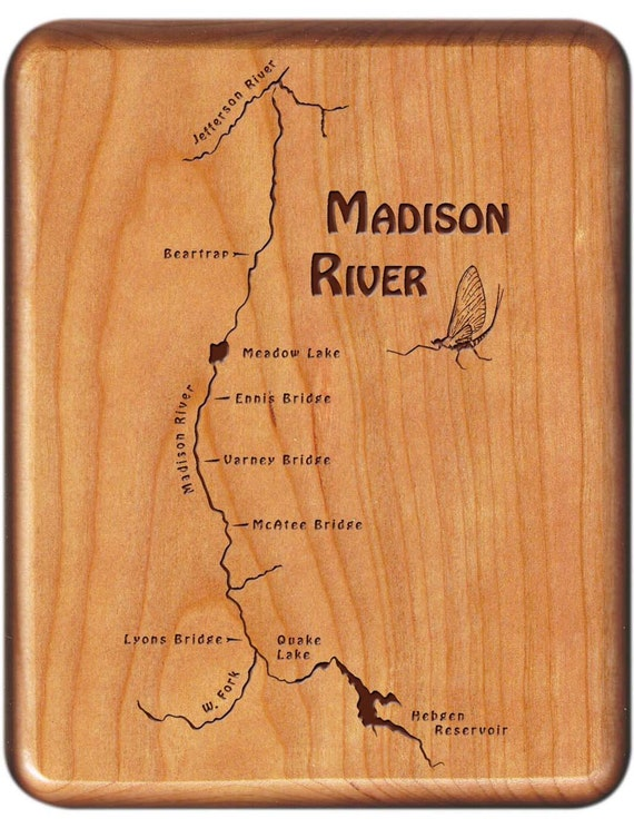 River Map Fly Box-MADISON RIVER- Handcrafted, Custom Designed, Laser on firehole river map, waukesha county river map, tuscumbia river map, albion river map, gallatin river map, mishawaka river map, seattle river map, cannonball river map, fluvanna river map, maries river map, yorktown river map, hebgen lake map, eugene river map, montana rivers map, st. augustine river map, salem river map, poquoson river map, folsom river map, sunflower river map, quad cities river map,