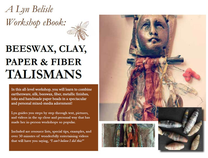 Workshop eBook: Beeswax Clay Paper and Fiber Talismans  image 0