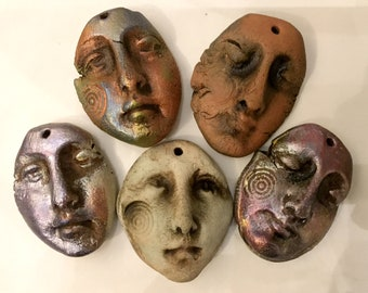 Artisan Sampler of Five Faces,  Three Celtic Forge finish, Two Rune and Relic finish