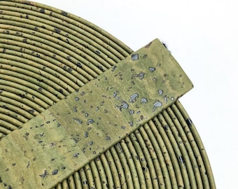 25mm Cork Lace Army Green