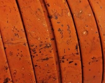 "Cork Fabric X 1 Meter// 58"" Wide Multi// Rainbow Colour"