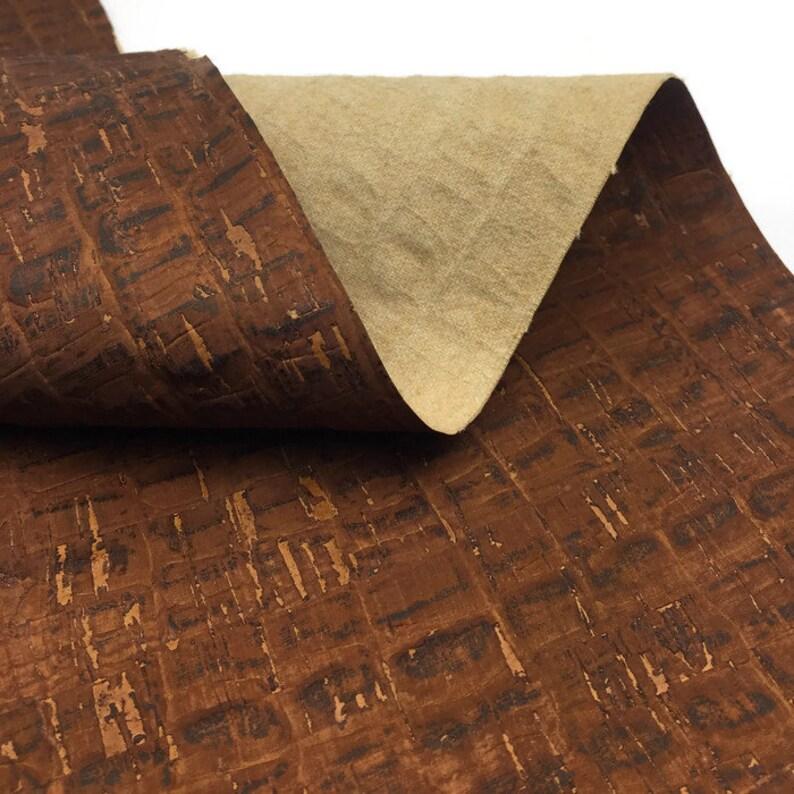 crocodile pattern    27.50x20 Aligator cork fabric Cork Leather
