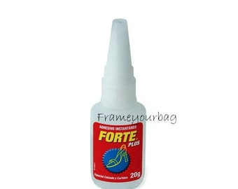 20Gr.Super strong glue for All of Leather Projects - Licorice Leather - Flat Leather - Bracelets - Leather Supplies