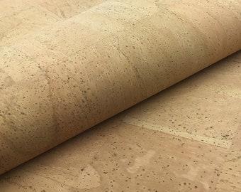 Cork Leather - Portuguese cork fabric Natural 68x50cm / 26.77''x19.69'',