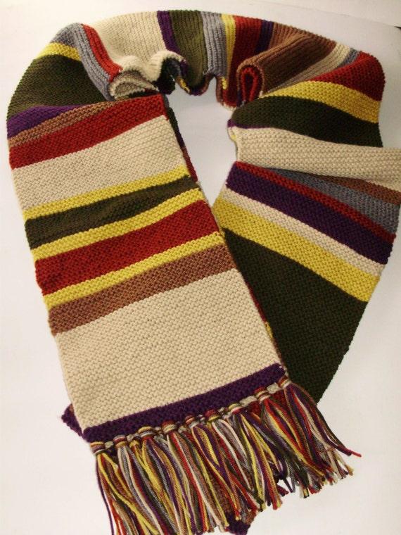 Mini Season 16 17 Doctor Who Type Scarf Hand Knit Garter Etsy