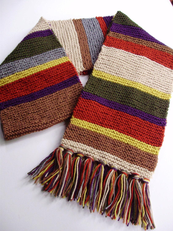 Doctor Who Season 14 Acrylic Replica Scarf Hand Knit In Garter Etsy