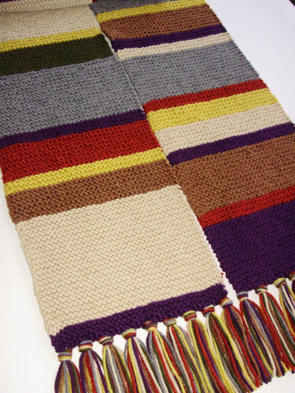 Doctor Who Season 12 Acrylic Hand Knit Garter Stitch Replica Etsy