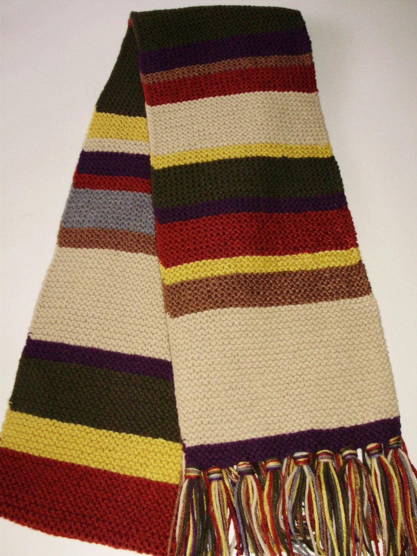 Doctor Who Season 125 Acrylic Hand Knit Garter Stitch Type Etsy