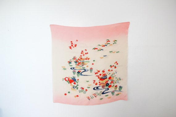 c. 1930s Pongee Silk Scarf | Made In Japan - image 3