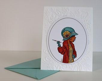 Autumn Socialite greeting card