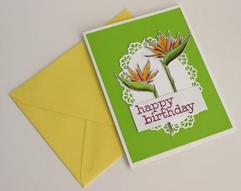 Paradise - Happy Birthday greeting card