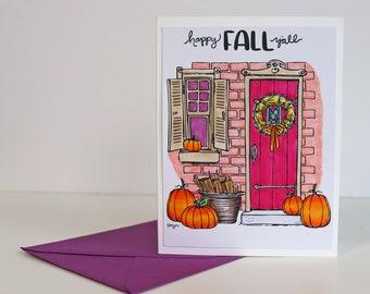 Happy Fall Y'all greeting card