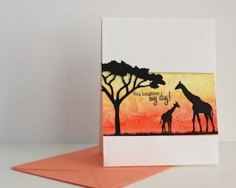 Safari 'You brighten my day!' greeting card