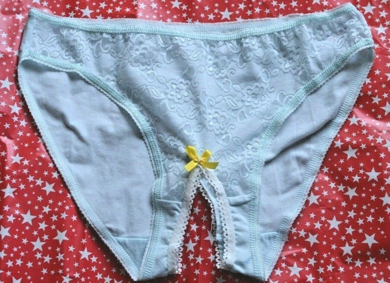 Cotton Crotchless Panties Images