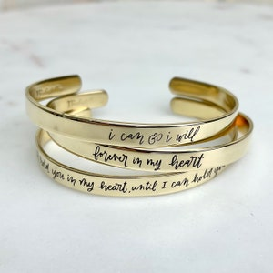 actual handwriting jewellery Personalised Handwriting Half Cuff Bracelet loved ones handwriting 14k gold fill  sterling silver