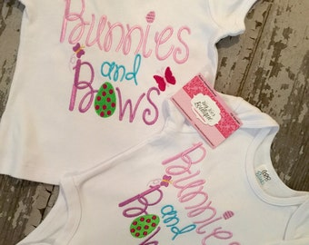 Bunnies and Bows Embroidered Shirt