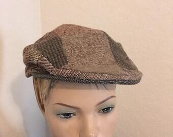 224666491 Wool tweed cap   Etsy