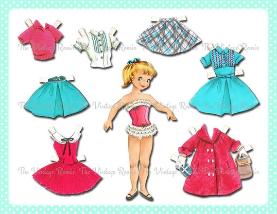 photo about Printable Vintage Paper Dolls known as Prompt Obtain, Electronic Collage Sheet, Paper Doll, Printable Retro Common-Encouraged