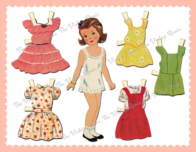 graphic regarding Printable Vintage Paper Dolls named Fast Down load, Printable Paper Doll, Electronic Collage Sheet, Retro Typical Paper Dolls