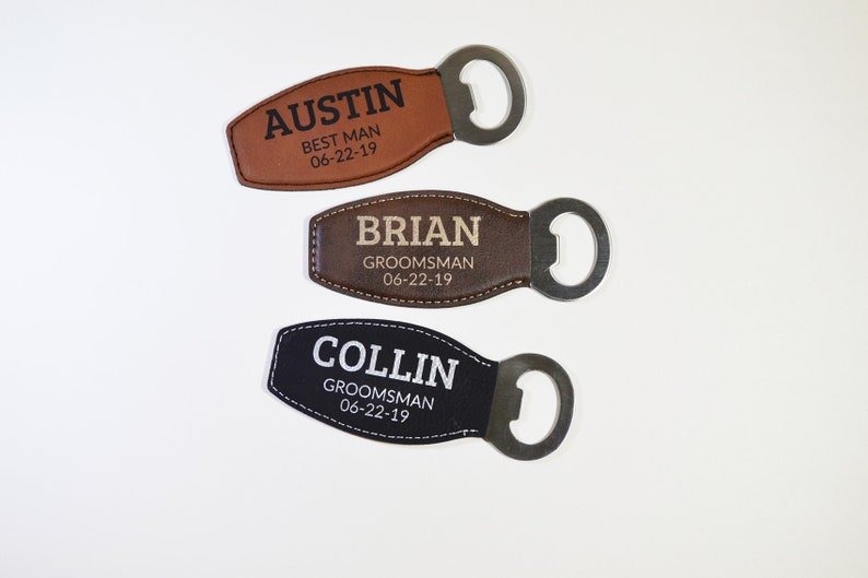 Personalised Engraved Bottle Opener Anniversary  Wedding Favour Fathers Day Gift