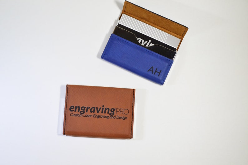 size 40 fc1d7 e49af Personalized, Business Card Holder, Leatherette, Hard Case, Custom Gift for  Boss, Employee, Coworkers, Credit Case, Holder, Engraved Gifts