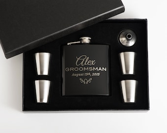 3, Personalized Groomsmen Gift, Flasks, Engraved Flask Set, Groomsmen Flasks, 3 Flask Sets