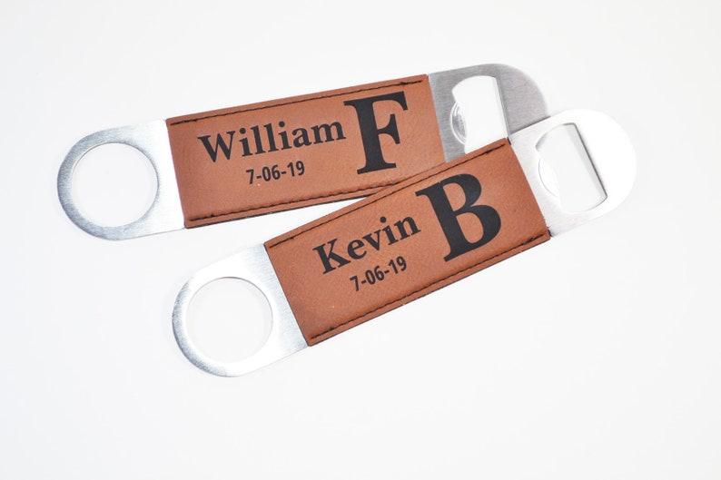 efeaa343497f Personalized Bottle Opener Custom Groomsmen Gift for Men