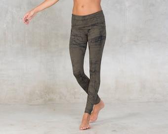 c8e7df5c1e620e Bamboo yoga pants ~ Fold over waist band ~ Black yoga bottoms ~ Bamboo  clothing