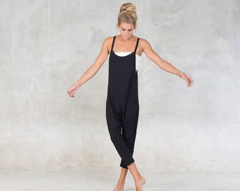 d8b36a910101 Cocoon Jumpsuit ~ Drop crotch romper ~ Over all ~ Woman romper ~ Lounge  wear ~ Bamboo Clothing