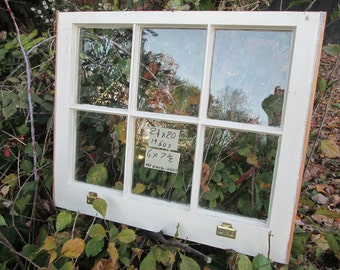 24 x 20 Vintage Window sash  6 pane  from 1960s