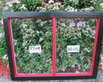 25 x 19 Vintage Window sash old 2 pane from 1950s