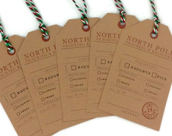 Christmas tags, Christmas gift tags, Christmas labels, Christmas hang tags, North Pole Gift tags, gift from Santa, Holiday tag, Christmas