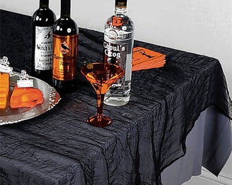 Halloween Tablecloth, Gauze Stained, Halloween, Halloween Party, Halloween  Decor, Halloween Table, Horror Home, Table Cloth, Gauze Cloth