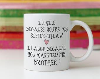 Sister In Law Mug Gift Wedding