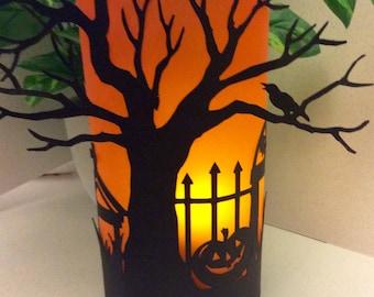 Halloween decorations, Halloween candle lanterns, Halloween luminaries, halloween lights
