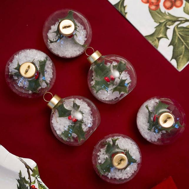 Christmas Table Place Card Holder Christmas Bauble Decorations