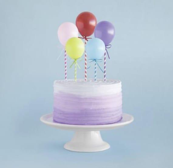 Marvelous Balloon Birthday Cake Topper Birthday Balloons Cake Etsy Funny Birthday Cards Online Elaedamsfinfo
