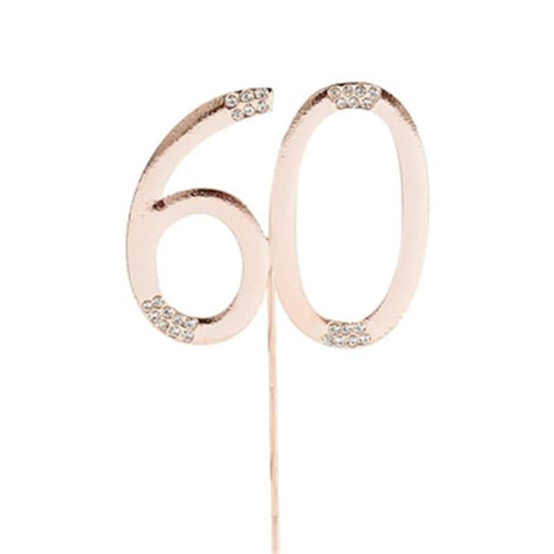Sparkly Diamante Cake Topper Number 60 SALE PRICE