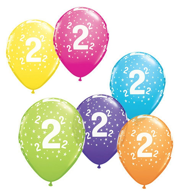Number Balloons Birthday Latex 1st