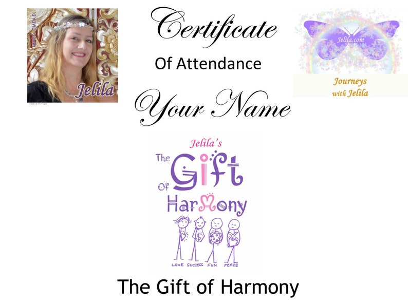 CD Certificate and Course for The Gift of HarmonyTM  image 0