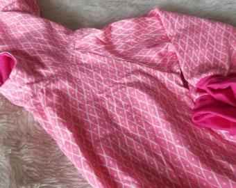 Pink Diamonds Cozy Hoodie - Cotton Knit - Bamboo Knit  - Sweatshirt - Sweater - Hoodie -Toddler Girl Hoodie 2-3T Ready to Ship