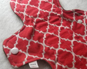 Red White Lattice Cotton Pads - Custom Mama Cloth - Menstrual Pads - Reusable Cotton Pads - CSP - Cloth Sanitary Pads - Made to Order