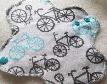 Vintage Bikes Cotton Pad Liner - Menstrual Pads - Reusable Cotton Pads -CSP - Cloth Sanitary Pads - Ready to Ship