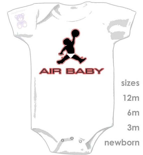 61cbeaf93dd Air Jordan Air Baby in Diaper Funny Cute Onesie MJ 23 | Etsy